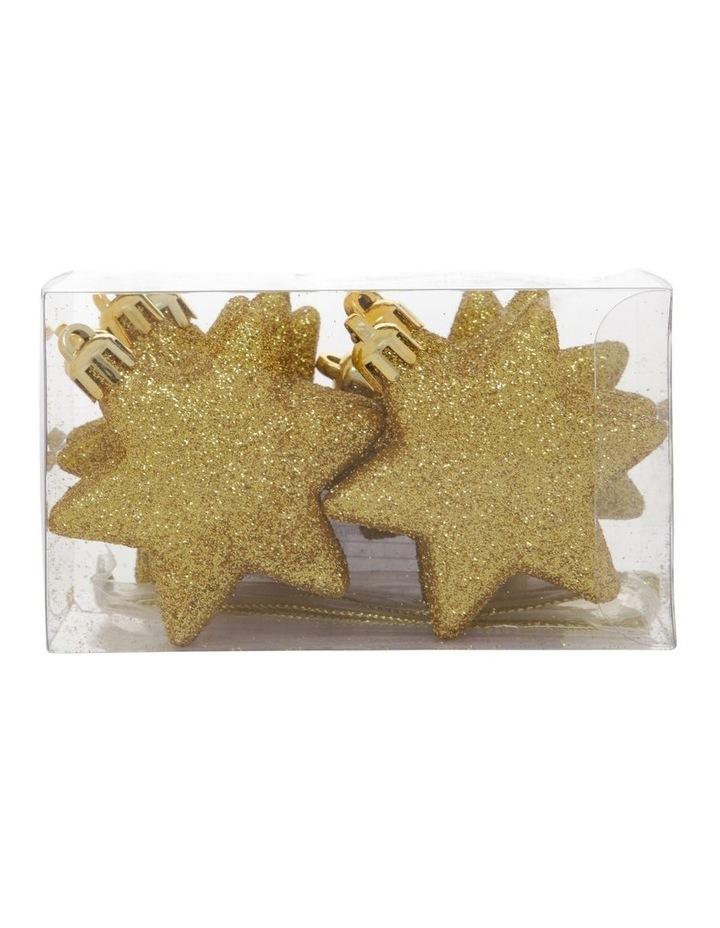 Heirloom Gold Shatter-Resistant Star Hanging Ornament 8pk image 1