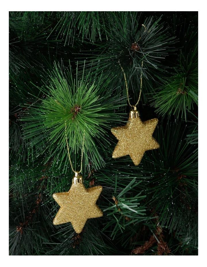 Heirloom Gold Shatter-Resistant Star Hanging Ornament 8pk image 2