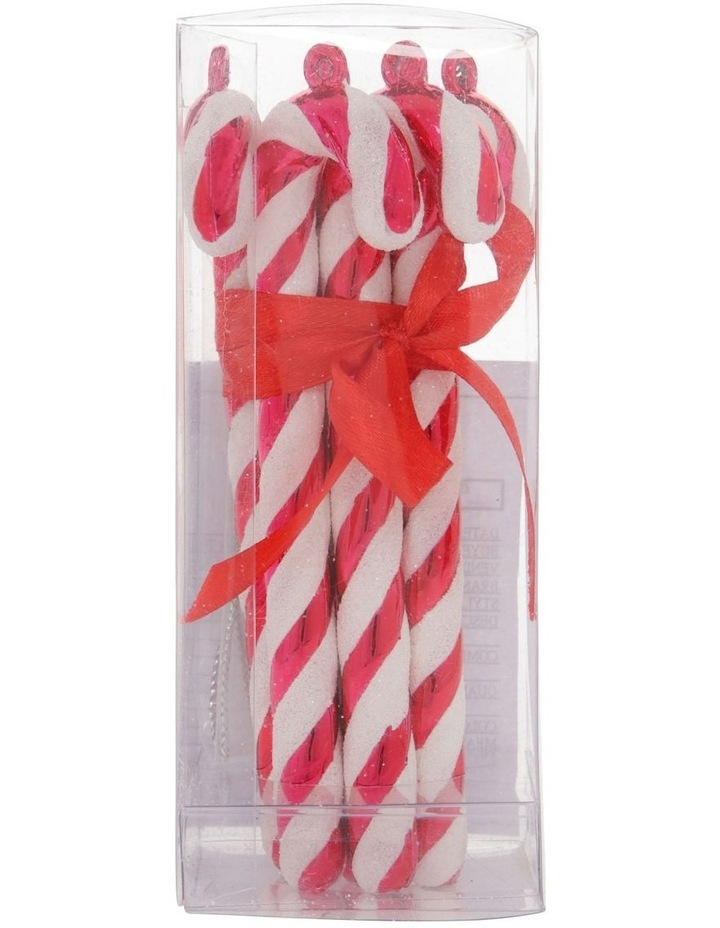 Merry & Bright Set of 6 Candy Cane Ornaments image 1
