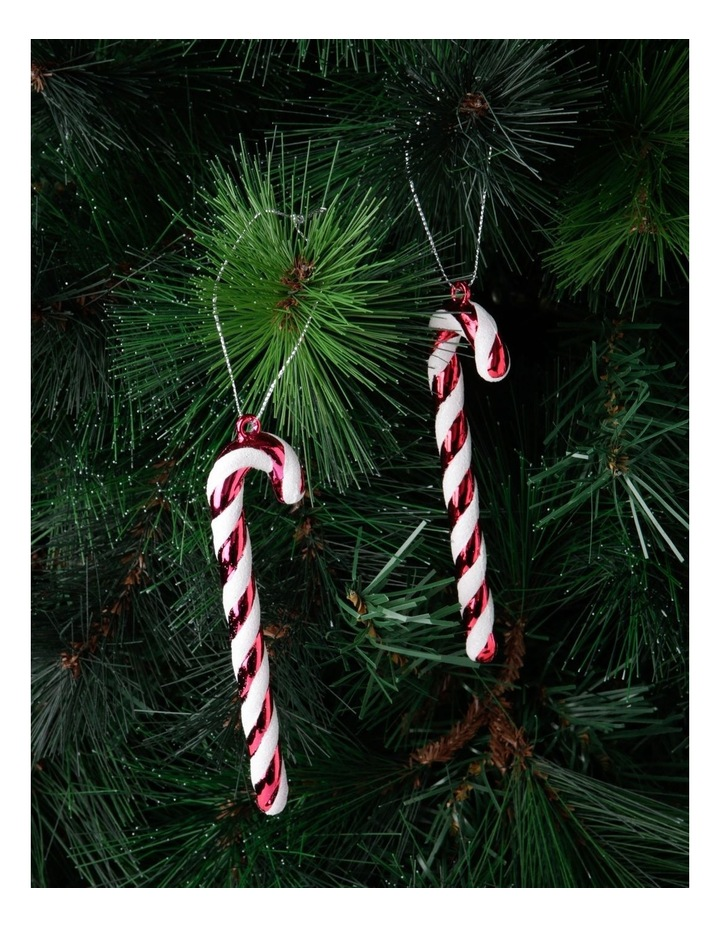 Merry & Bright Set of 6 Candy Cane Ornaments image 2