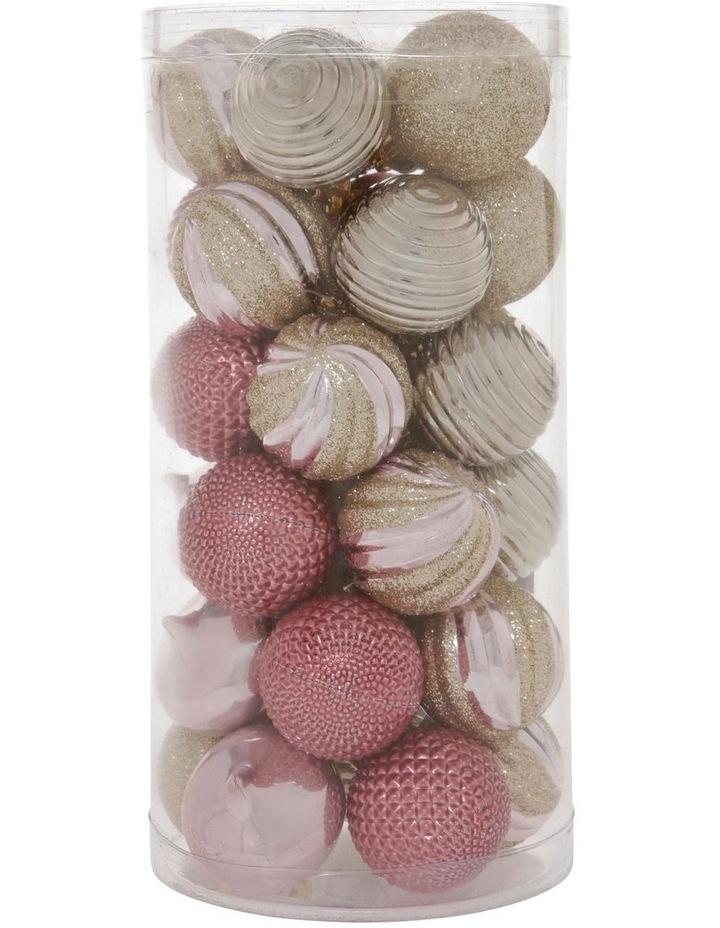 Luxe Assorted Champagne Shatter-Resistant Baubles 30pk image 1