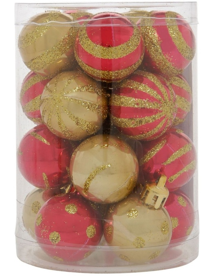 Heirloom Assorted Gold & Red Shatter-Resistant Baubles 20pk image 1