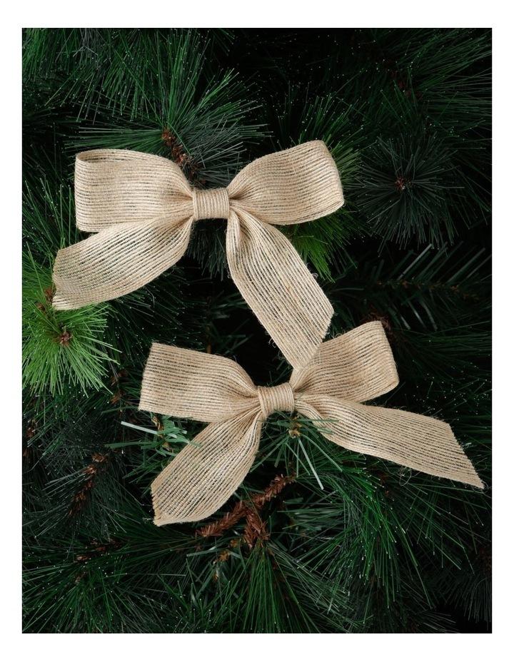 Eucalyptus 4 Pack Hessian Bow Clip-On Ornaments image 2