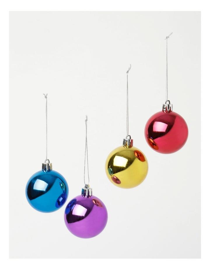 Mb 34 Pk Tree Pack Shatterproof Bauble- Rainbow: 6 Cm image 2