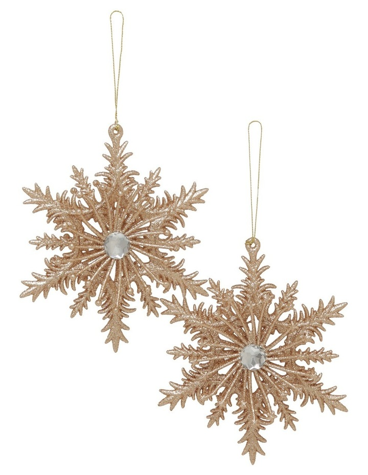 Luxe Assorted Champagne Snowflake With Gem image 1