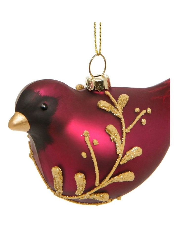 Rhumba Red Cardinal Hanging Ornament with Feather Tail image 2
