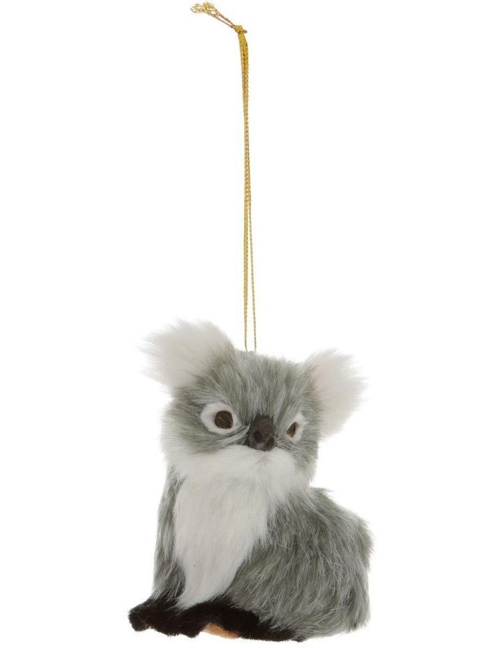 Eucalyptus Grey Furry Koala Hanging Ornament image 1