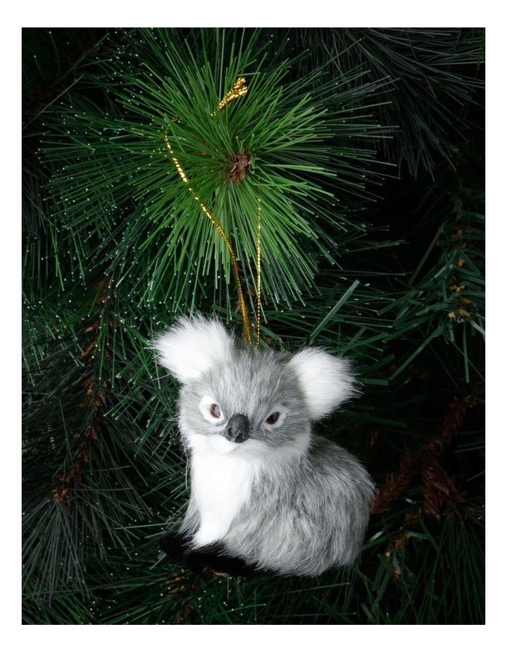 Eucalyptus Grey Furry Koala Hanging Ornament image 2