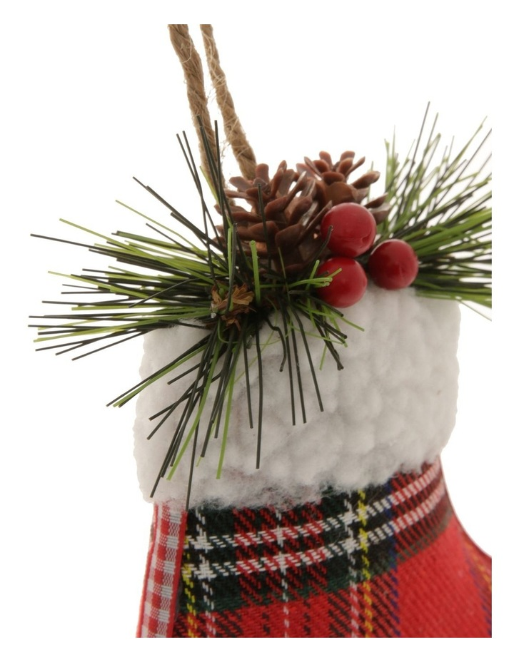 Heirloom Stuffed Plaid Stocking Hanging Ornament image 2