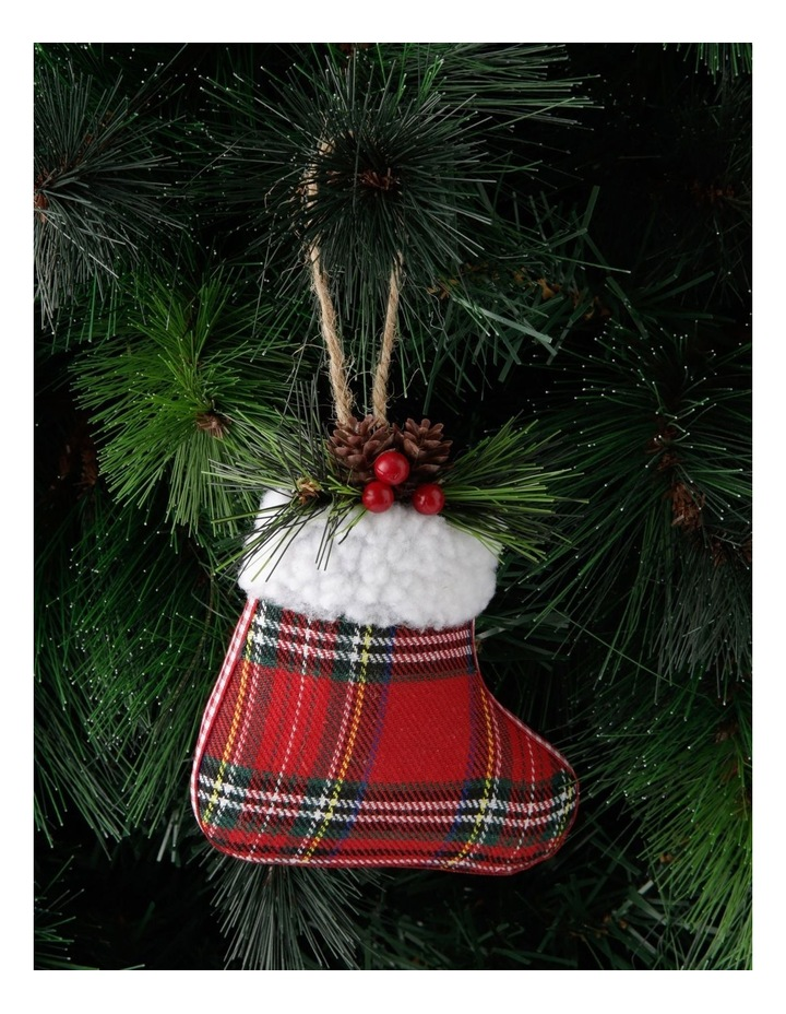 Heirloom Stuffed Plaid Stocking Hanging Ornament image 3