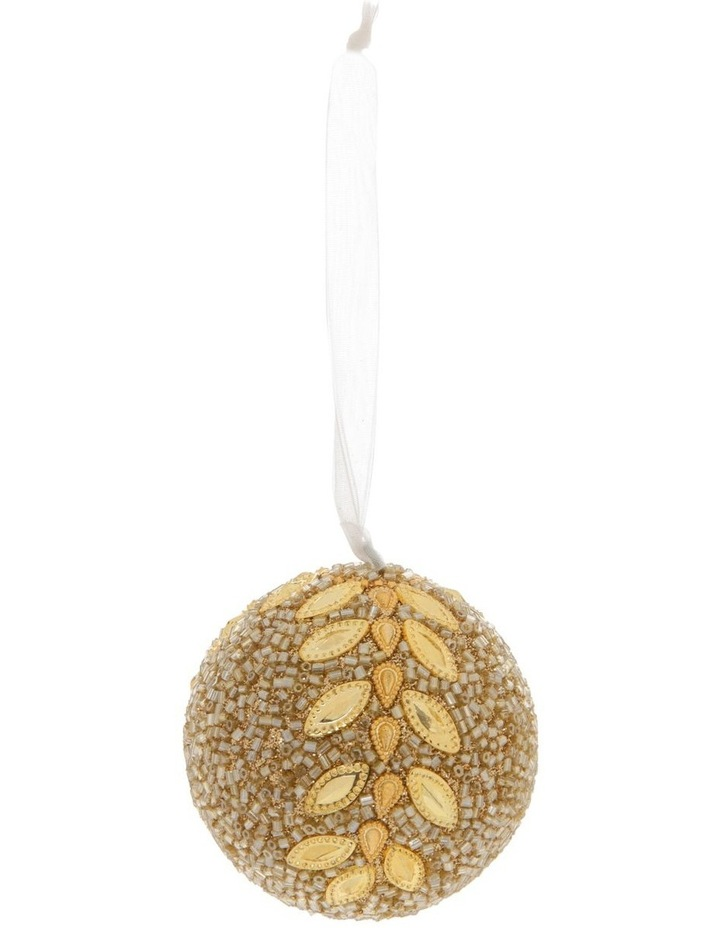 Luxe Gold Glitter Leaf Bauble image 1
