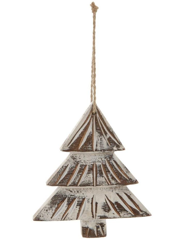 Eucalyptus Whitewashed Wood Tree Ornament image 1