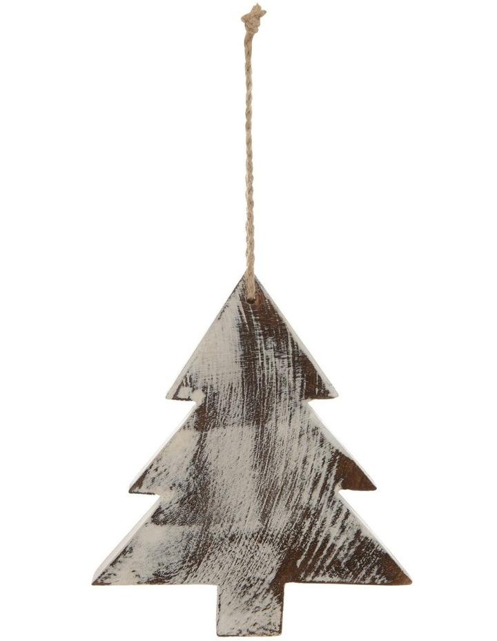 Eucalyptus Whitewashed Wood Tree Ornament image 2