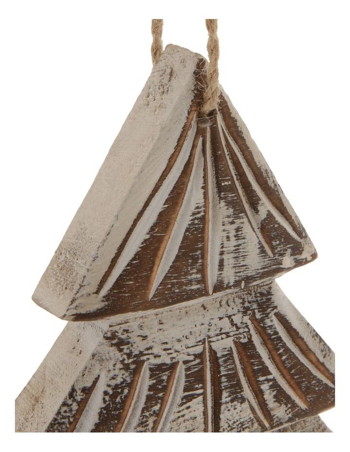 Eucalyptus Whitewashed Wood Tree Ornament image 3
