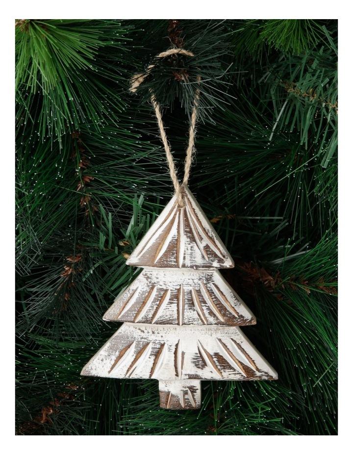 Eucalyptus Whitewashed Wood Tree Ornament image 4