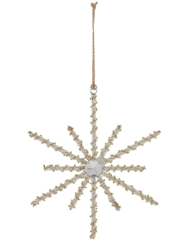 Luxe Beaded Wire Snowflake Ornament image 1