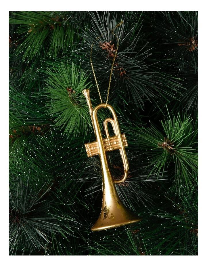 Heirloom Gold Trumpet Hanging Ornament image 2