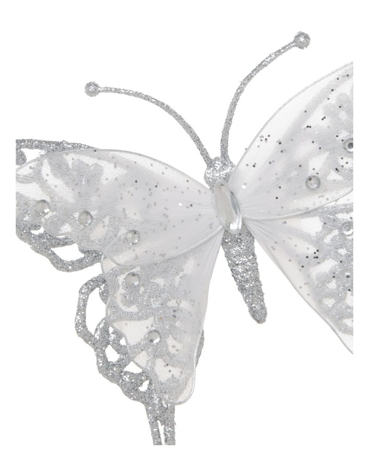 Luxe Glitter & Mesh Butterfly Clip image 2