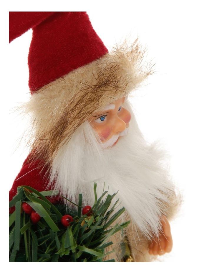Heirloom Fabric Santa in Coat Hanging Ornament image 2