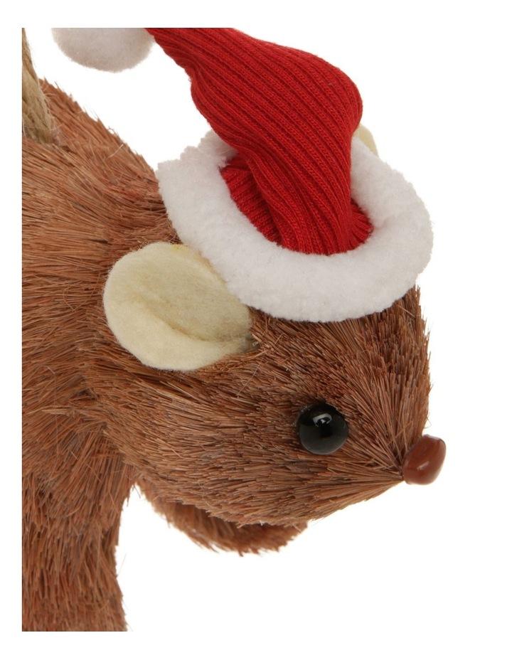 Eucalyptus Sisal Wombat Hanging Ornament - Brown 10 cm image 2
