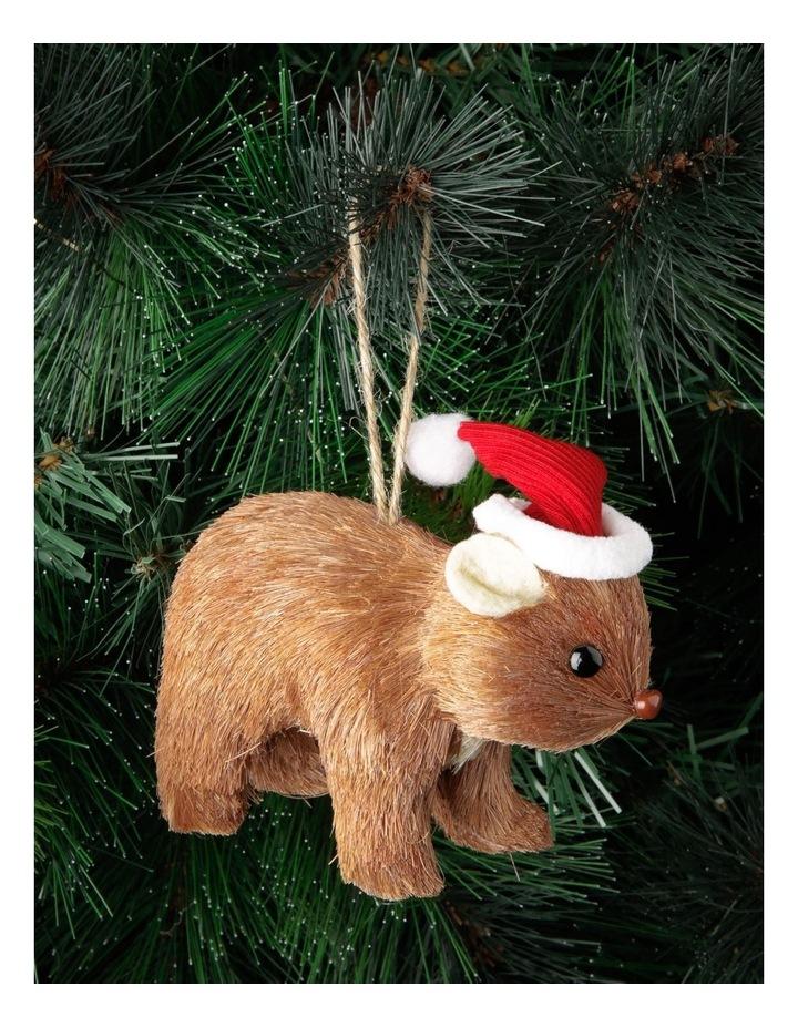 Eucalyptus Sisal Wombat Hanging Ornament - Brown 10 cm image 3