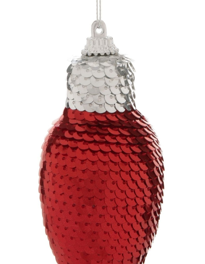 Merry & Bright Assorted Sequined Light Bulb Hanging Ornament image 2