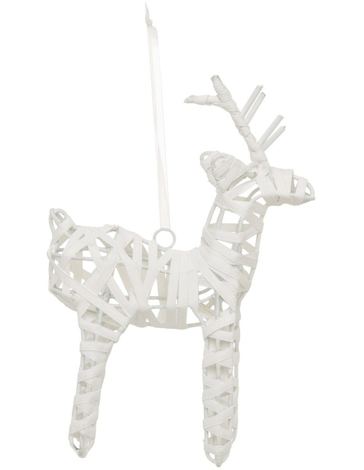 Eucalyptus Wrapped Reindeer Hanging Ornament image 1