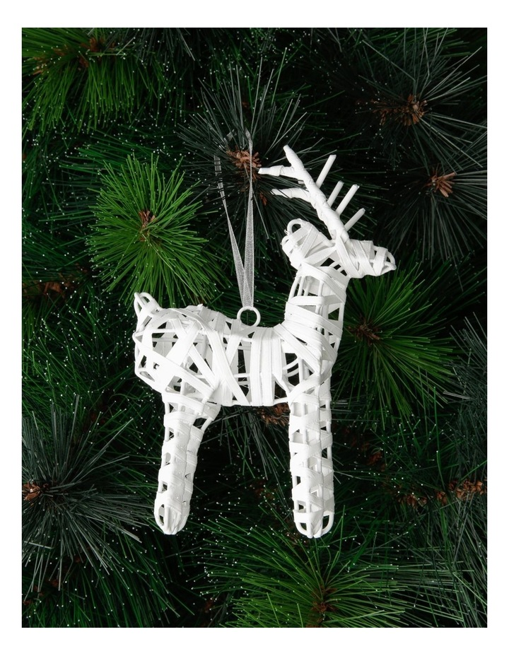 Eucalyptus Wrapped Reindeer Hanging Ornament image 2