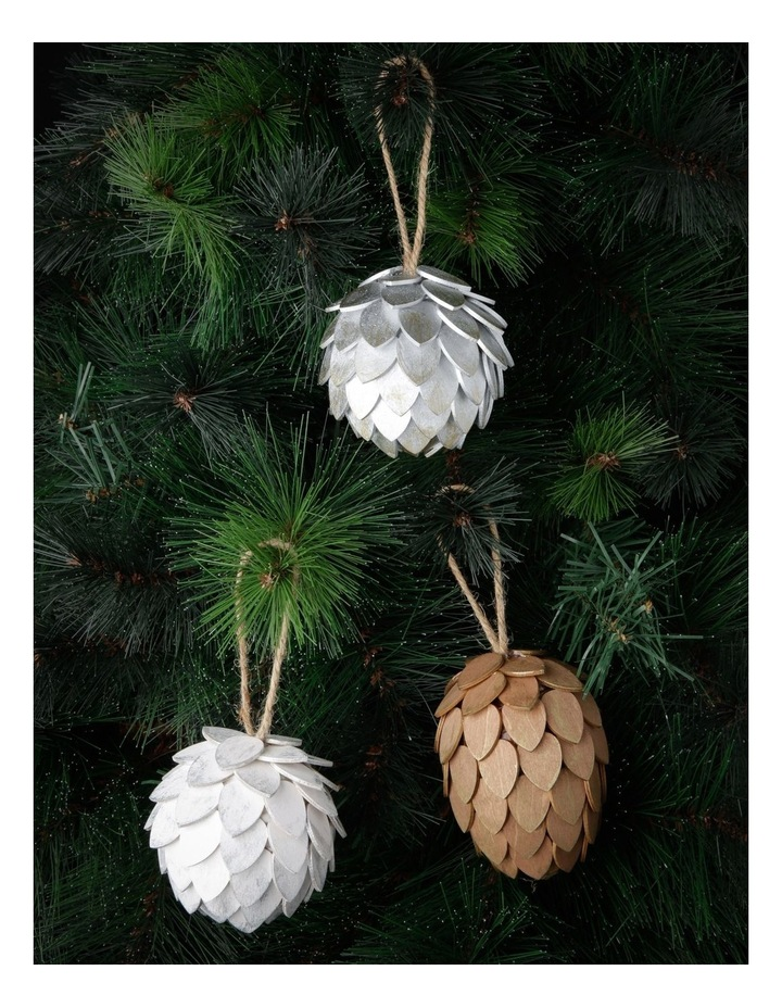 Eucalyptus Assorted Pinecone Hanging Ornaments image 3