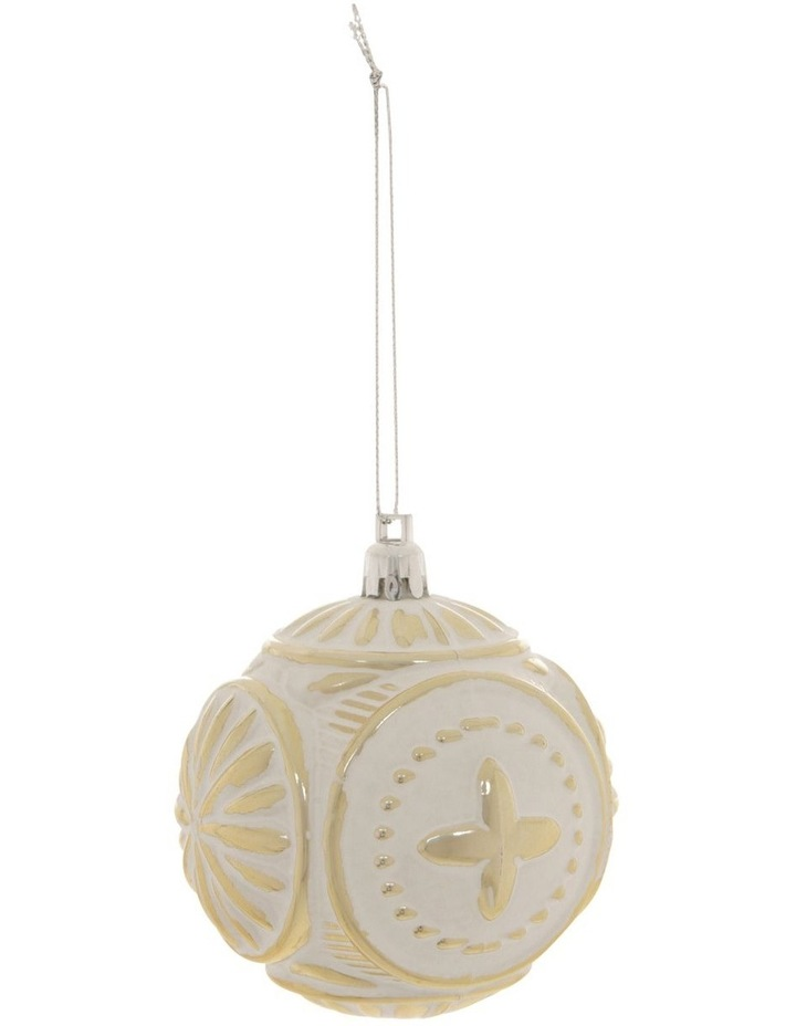 Heirloom Embossed Distressed Finish Bauble image 1