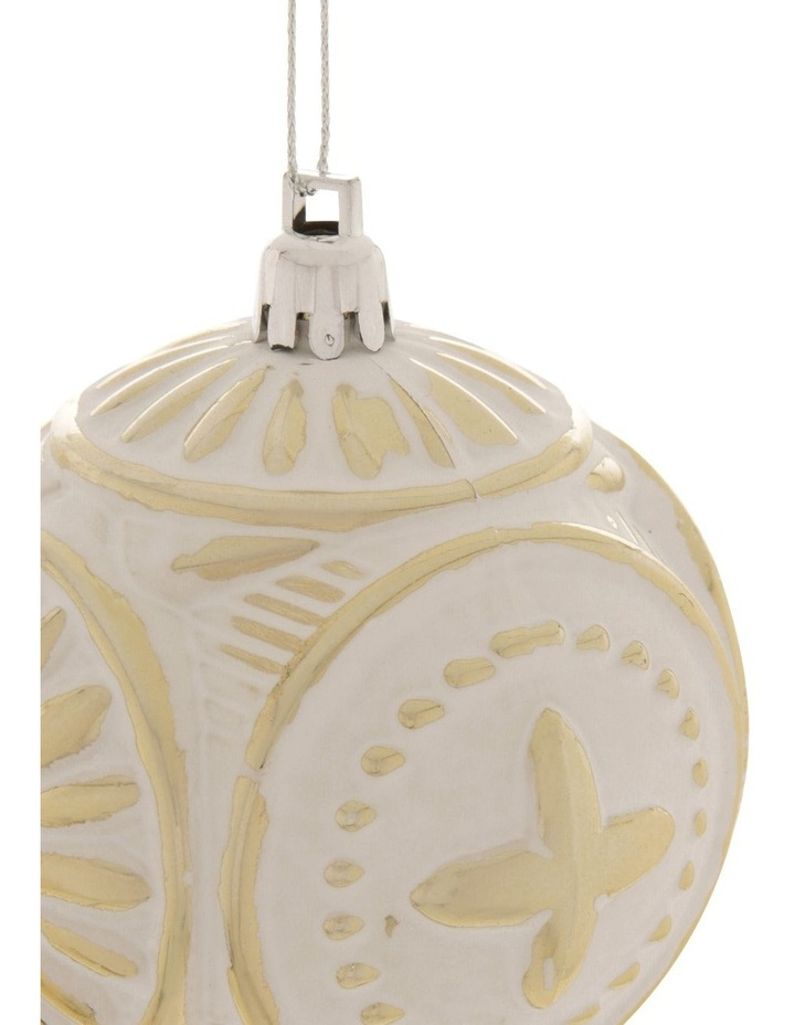 Heirloom Embossed Distressed Finish Bauble image 2
