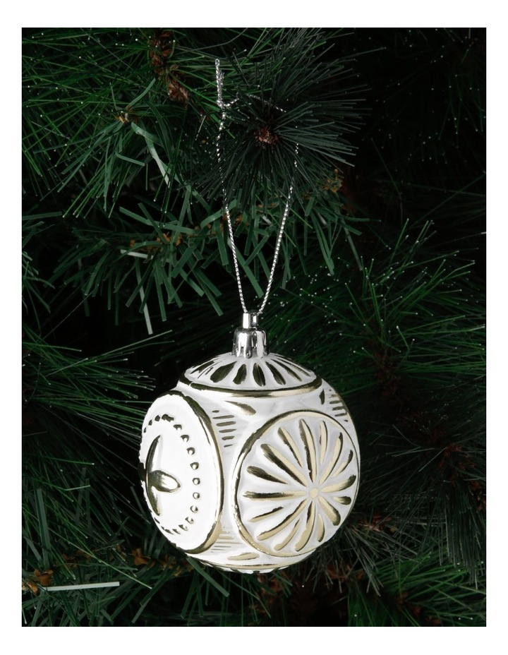 Heirloom Embossed Distressed Finish Bauble image 3
