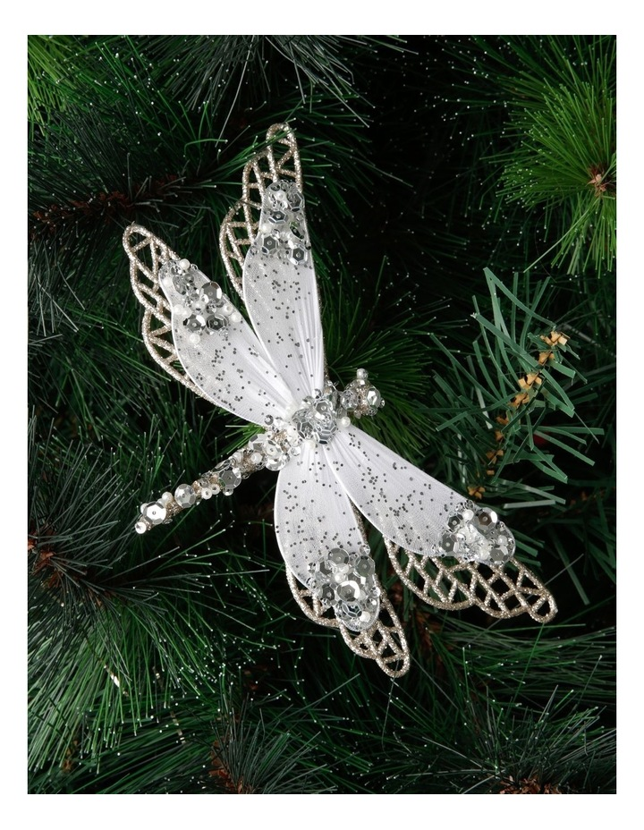 Luxe Glittered Mesh & Fabric Dragonfly Clip - Gold: 6.5 cm image 2