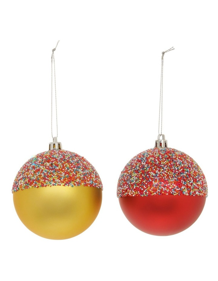 Merry & Bright Assorted Rainbow Beaded Baubles image 1