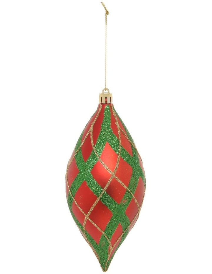 Heirloom Glitter Plaid Finial Hanging Ornament image 1