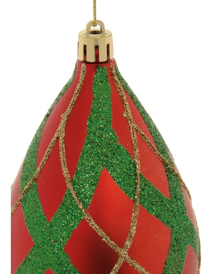 Heirloom Glitter Plaid Finial Hanging Ornament image 2