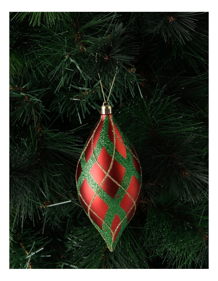 Heirloom Glitter Plaid Finial Hanging Ornament image 3