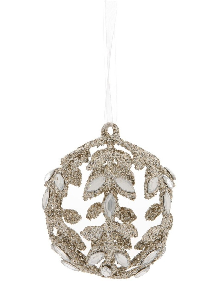 Luxe Champagne Jewelled Bauble image 1