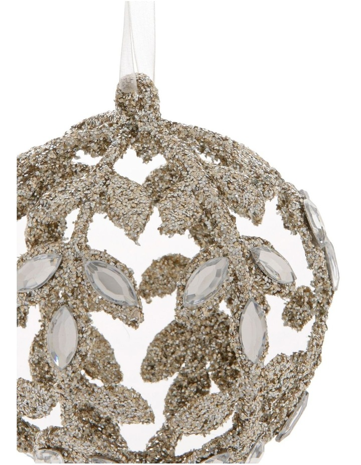 Luxe Champagne Jewelled Bauble image 2