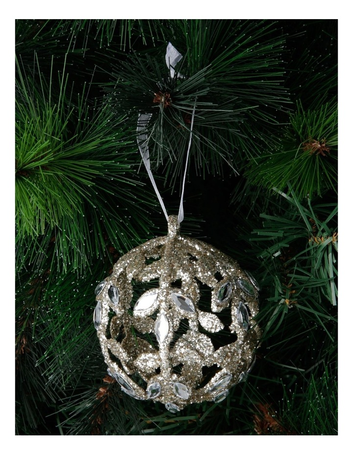 Luxe Champagne Jewelled Bauble image 3