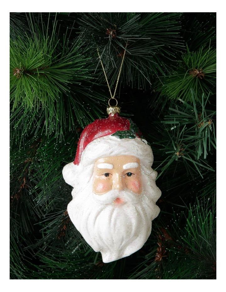 Heirloom Santa Head Hanging Ornament image 3
