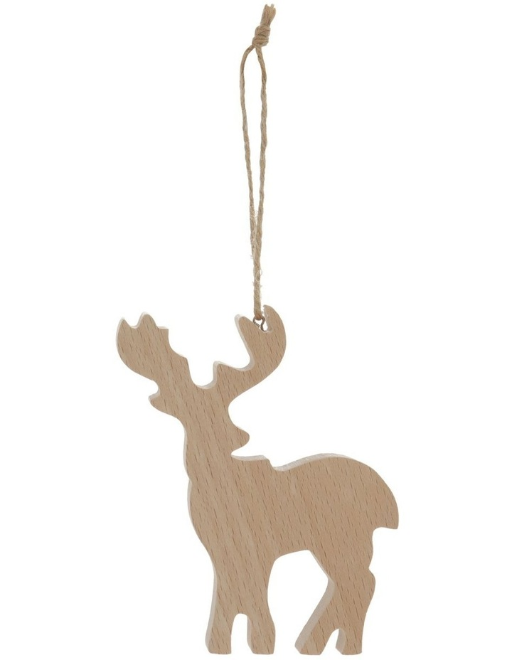 Eucalyptus Wooden Reindeer Hanging Ornament image 1