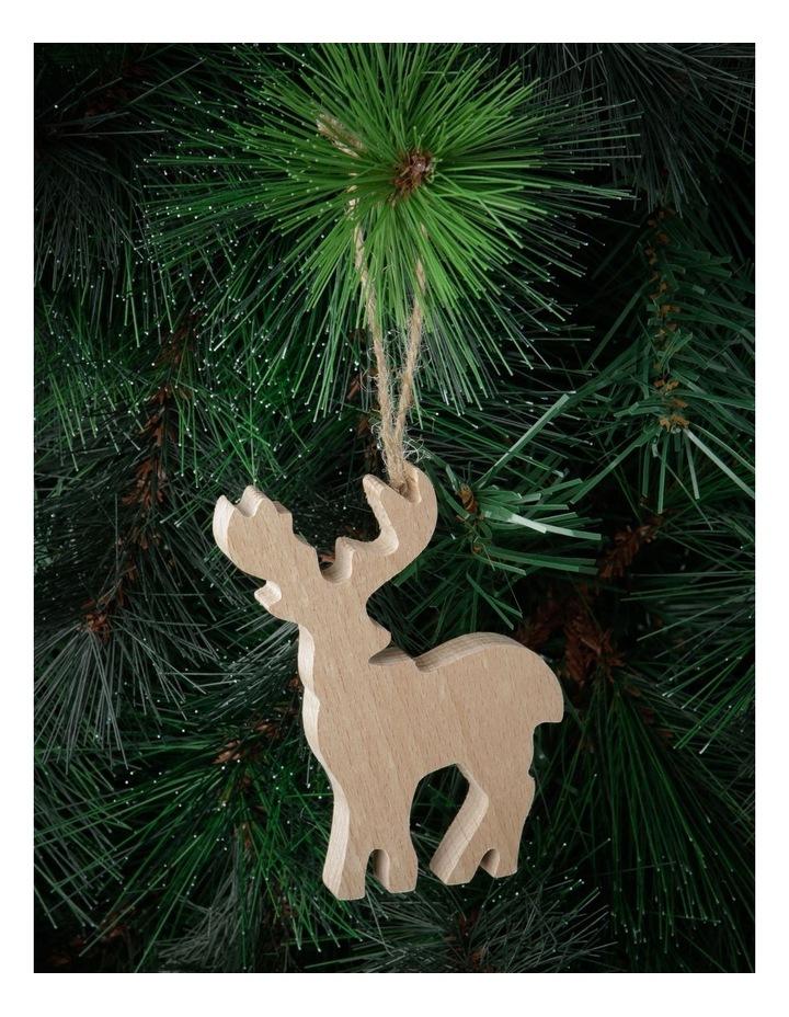 Eucalyptus Wooden Reindeer Hanging Ornament image 2