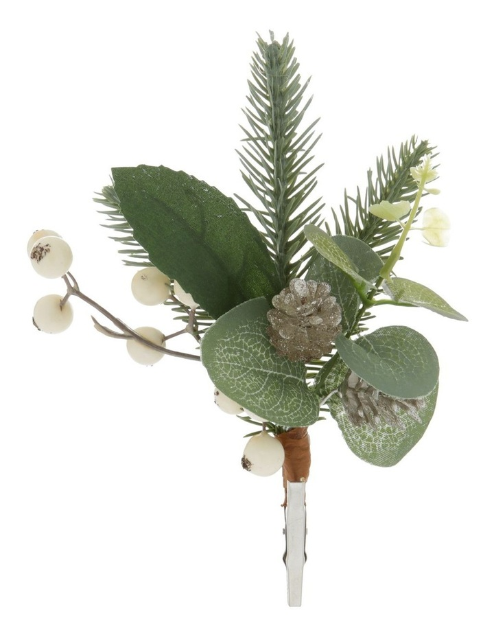 Eucalyptus Faux Eucalyptus Leaf & Berry Clip Ornament image 1
