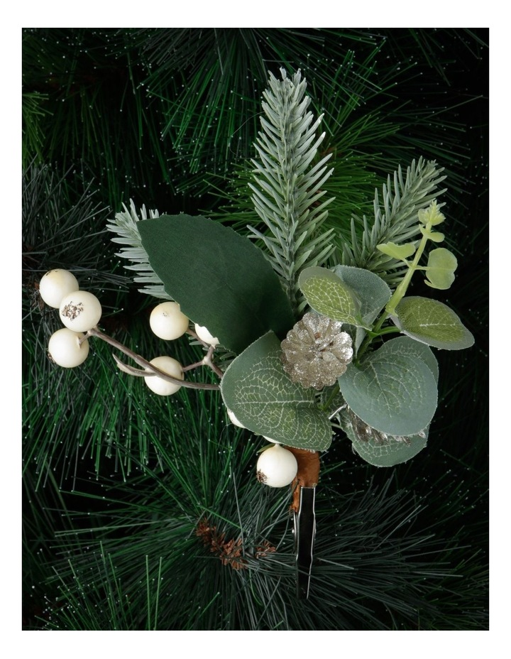Eucalyptus Faux Eucalyptus Leaf & Berry Clip Ornament image 2