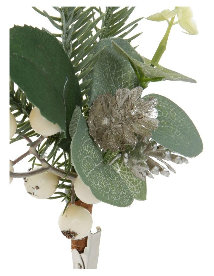 Eucalyptus Faux Eucalyptus Leaf & Berry Clip Ornament image 3