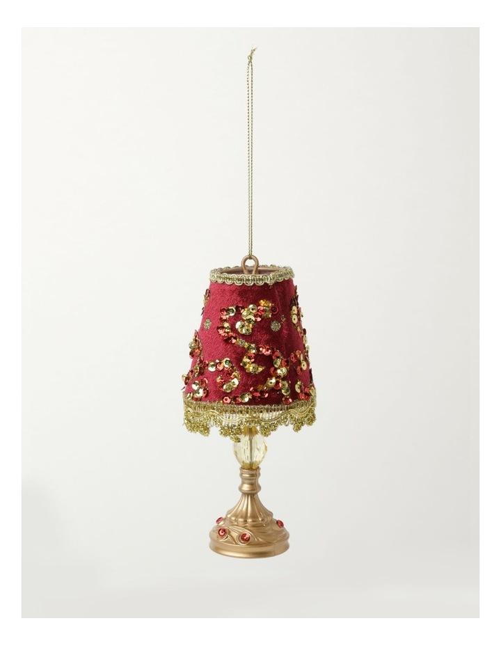 Heirloom Velvet Vintage Table Lamp Ornament- Red: 13cm image 2
