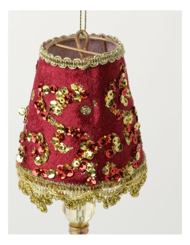 Heirloom Velvet Vintage Table Lamp Ornament- Red: 13cm image 3