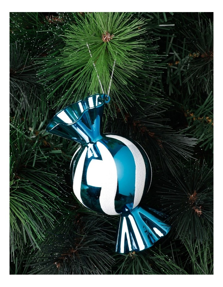 Merry & Bright Plastic Candy Ornament- Blue: 12cm image 1