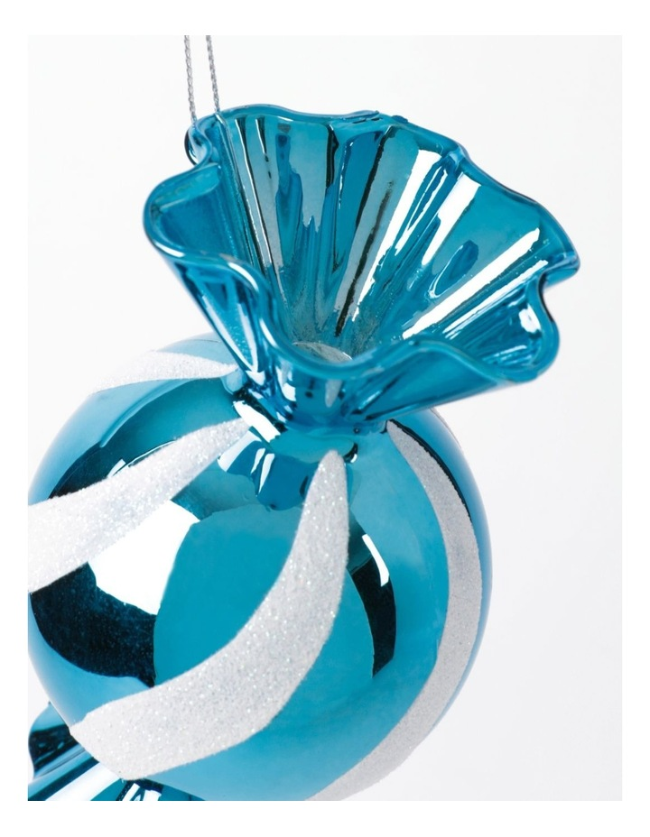 Merry & Bright Plastic Candy Ornament- Blue: 12cm image 3